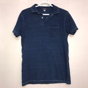 Club Monaco Denim Dream Blue Contrast Stitch Shirt